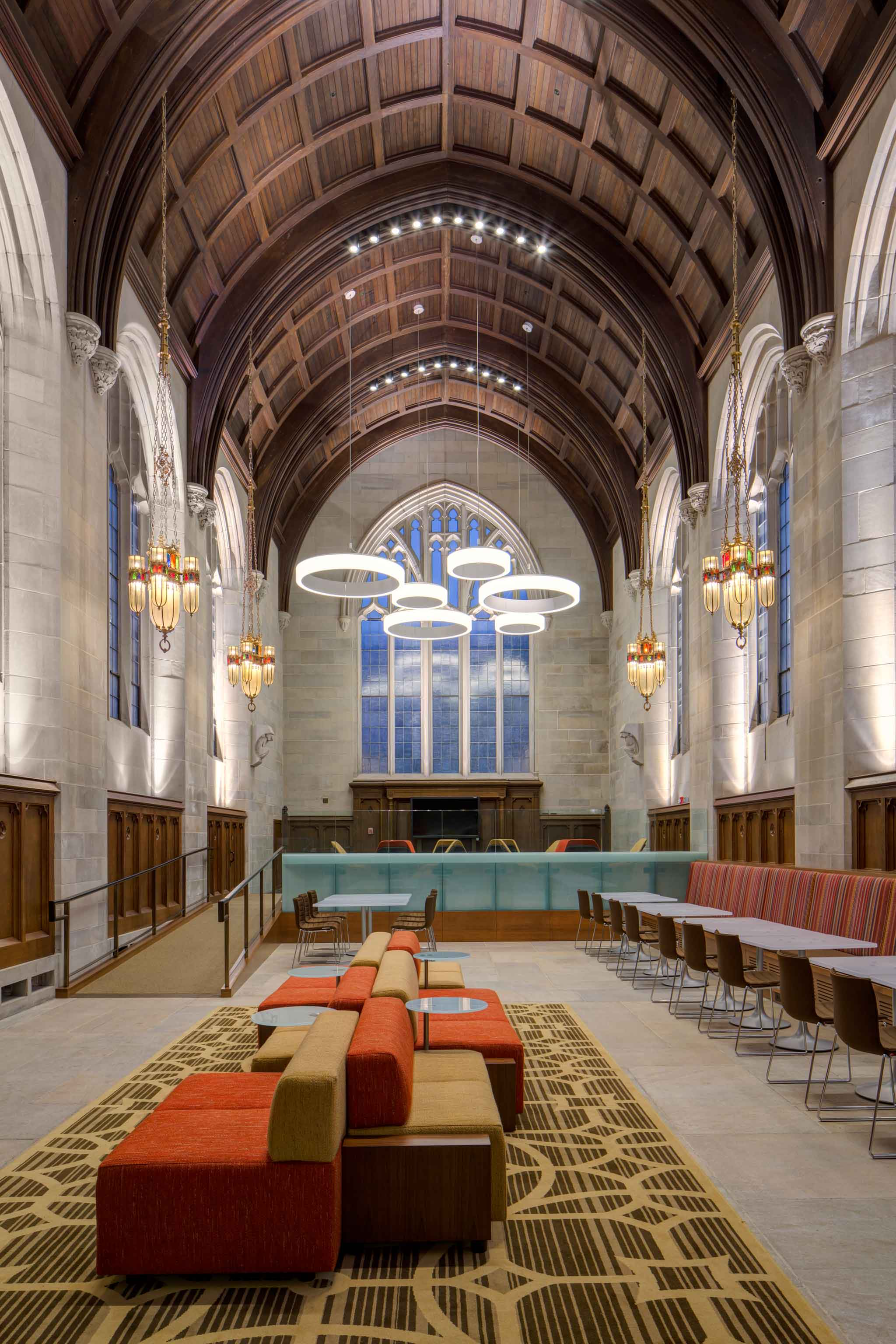 University of Chicago Saieh Hall for Economics, Ann Beha Architects (Boston) with Gensler (Chicago), Carpet by Creative Matters | Image courtesy of Tom Rossiter / Creative Matters