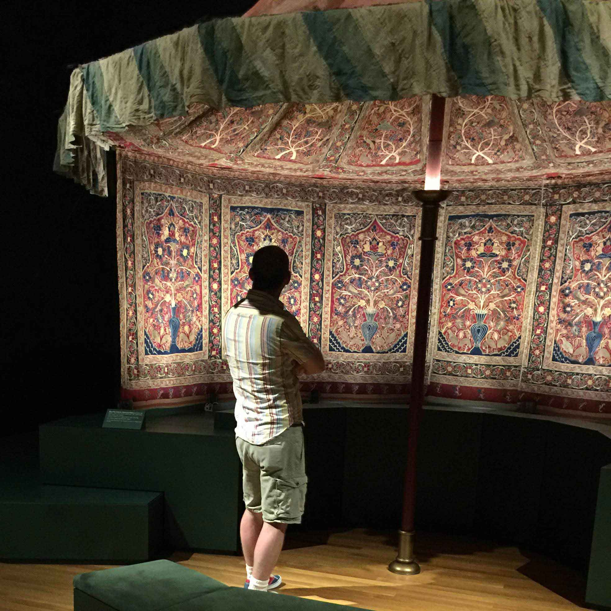'Behold the Captivating Beauty' - The Ruggist viewing Muhammad Shah's Royal Persian Tent at The Cleveland Museum of Art | Image courtesy of Peter Kitchen