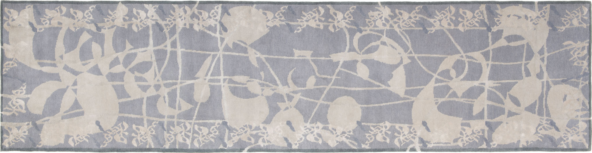 'Silver Runner' is part of Amy Helfand's 'Be Good Do Good' Collection - wool and silk handknotted in Nepal. | Image courtesy of Amy Helfand.