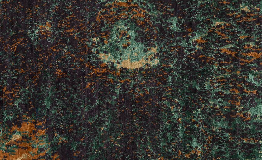 Moonscape shown in colour Malachite by Tufenkian | Image courtesy of Tufenkian | The Ruggist