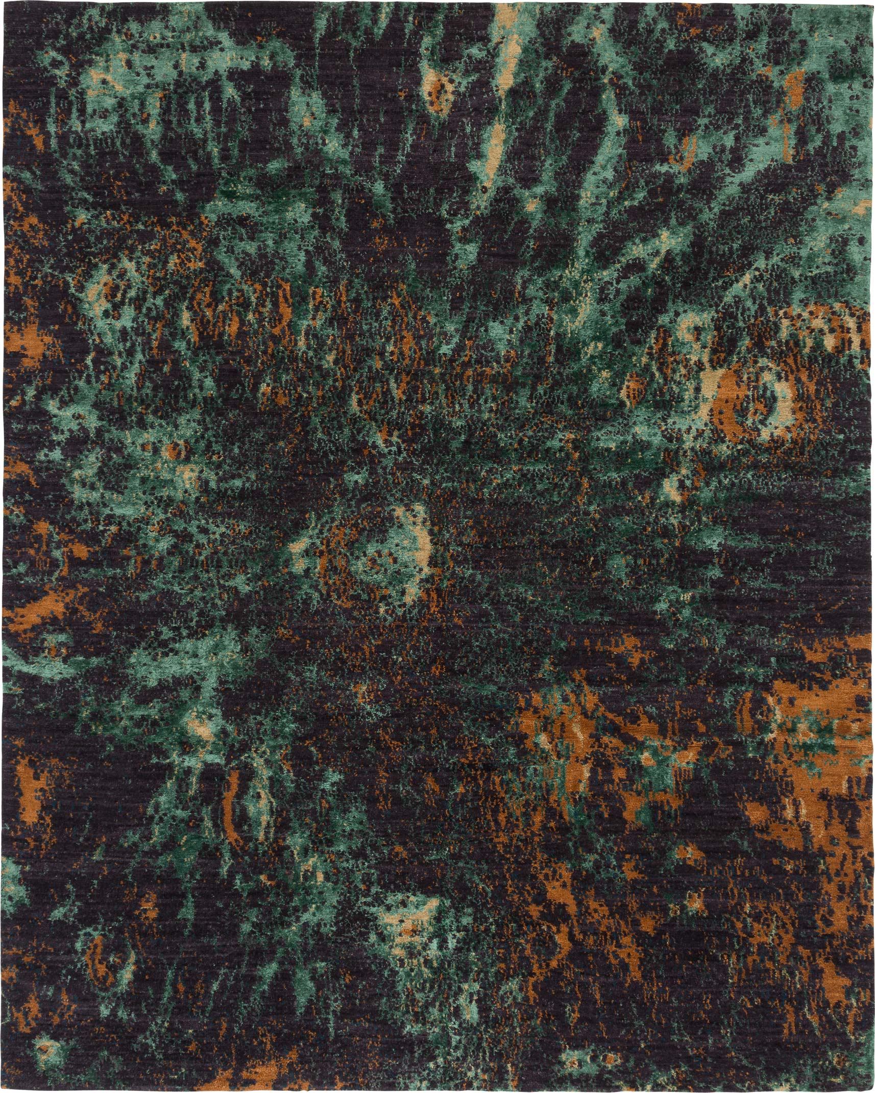 Moonscape shown in colour Malachite by Tufenkian   Image courtesy of Tufenkian