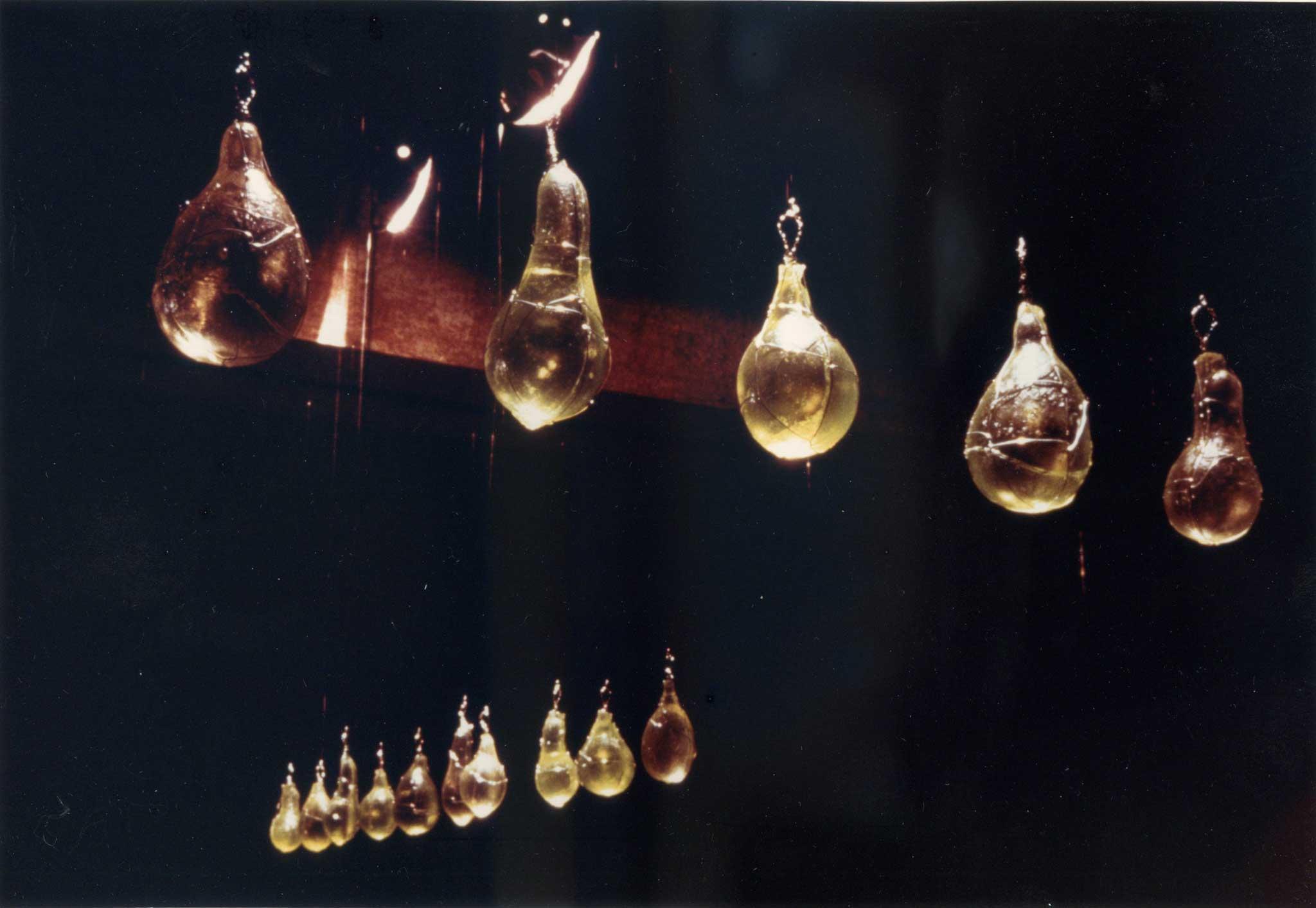 Amy Helfand, Semilla (Detail), 1993 - 18' x 24' x 12' - Plaster, acrylic resin, wire, graphite. | Image courtesy of Amy Helfand.