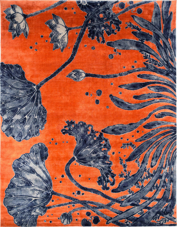 'Water Flowers' carpet by Joseph Carini Carpets inspired by the work of Yuki Hayama.   Image courtesy of Joseph Carini Carpets.