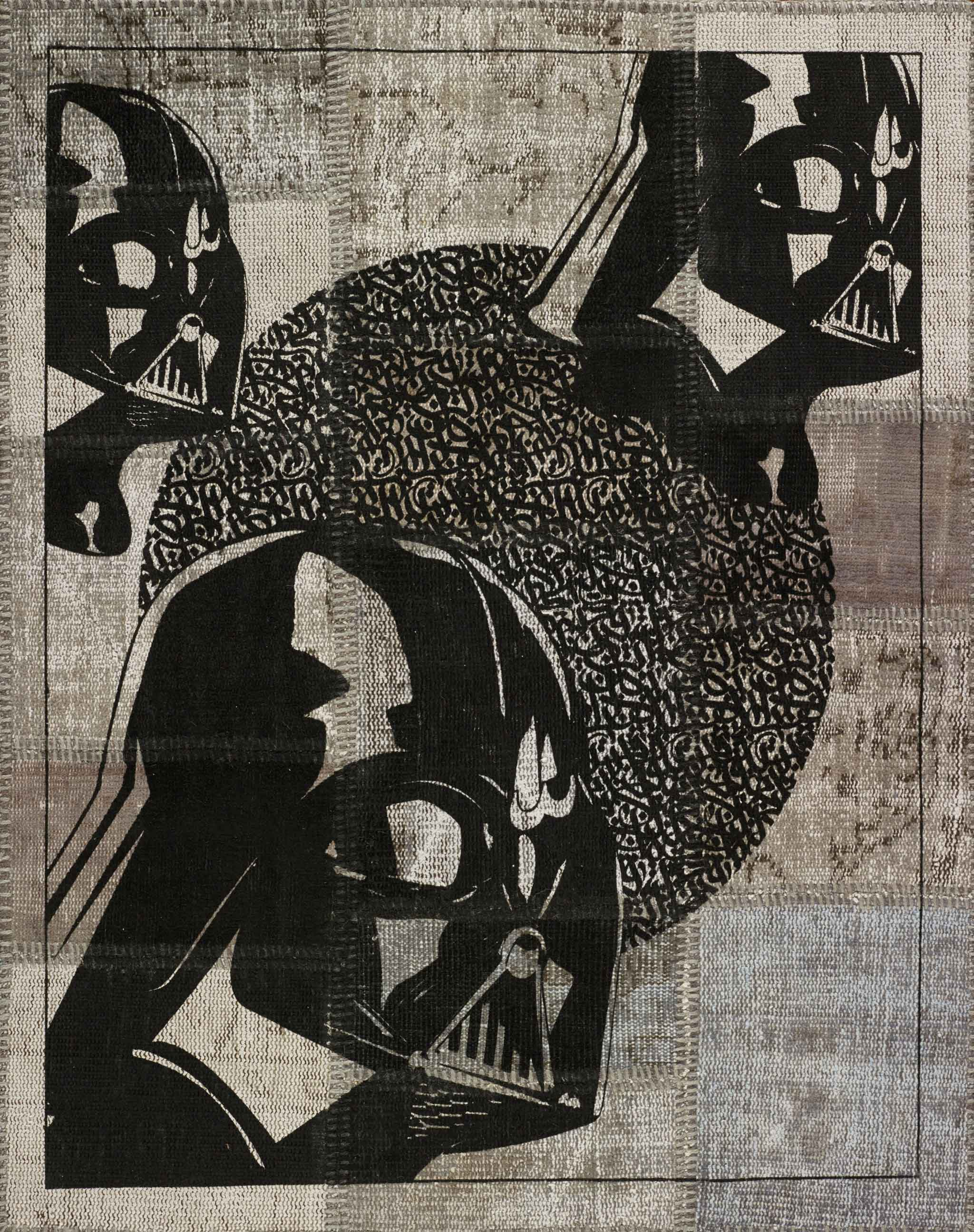 'Darth Vader' by Hadi Maktabi is a limited edition series of ten (10) 3ft x 4ft (1m x 1.2m) rugs eponymously named after the famed Star Wars character. | Image courtesy of Hadi Maktabi.