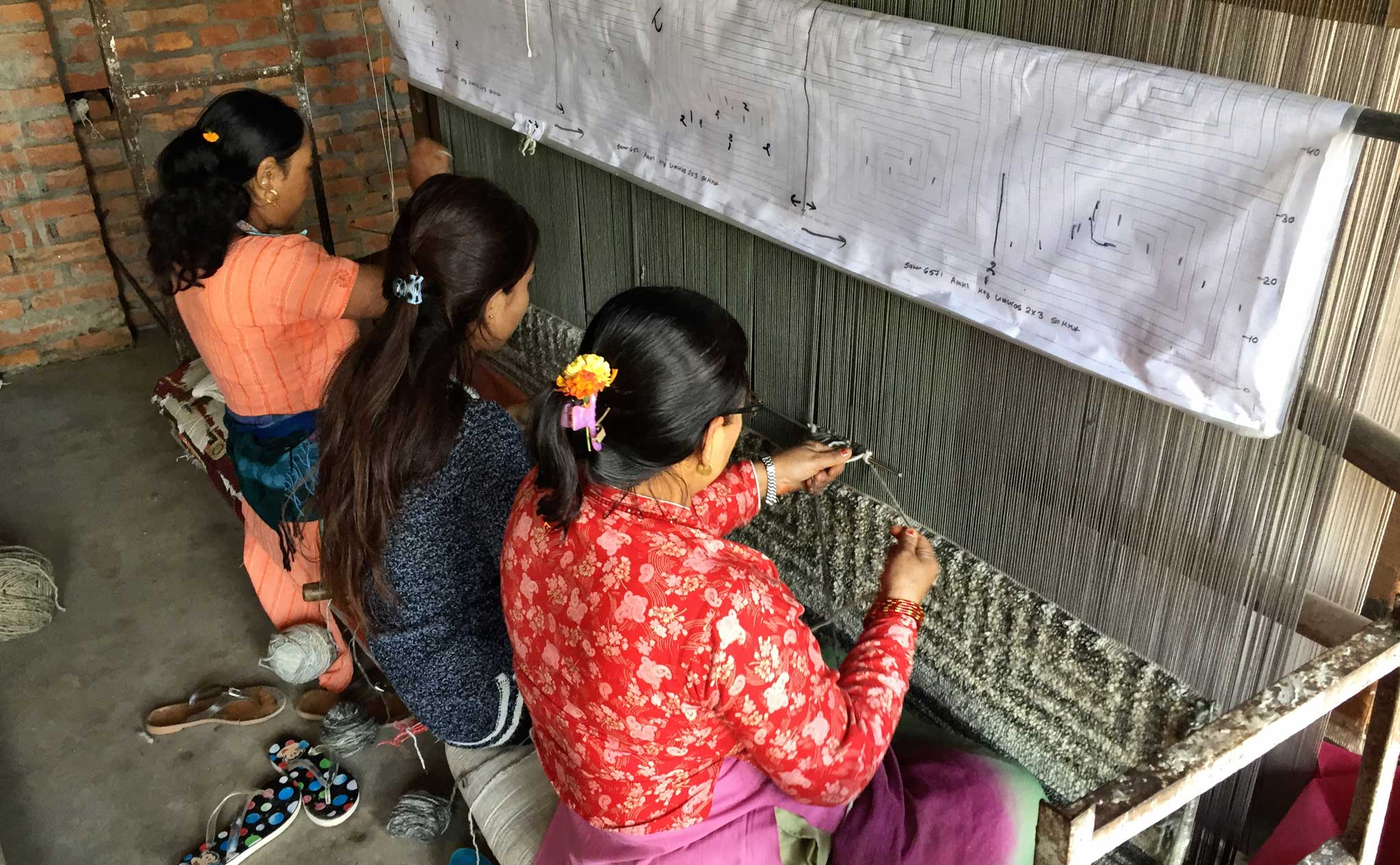 In addition to operating the most rigorous inspection regime to certify no illegal child or bonded labour was used in the manufacture of a handmade rug, GoodWeave now runs weaving training programs to teach job skills for those seeking a way out of poverty. | Image by The Ruggist.