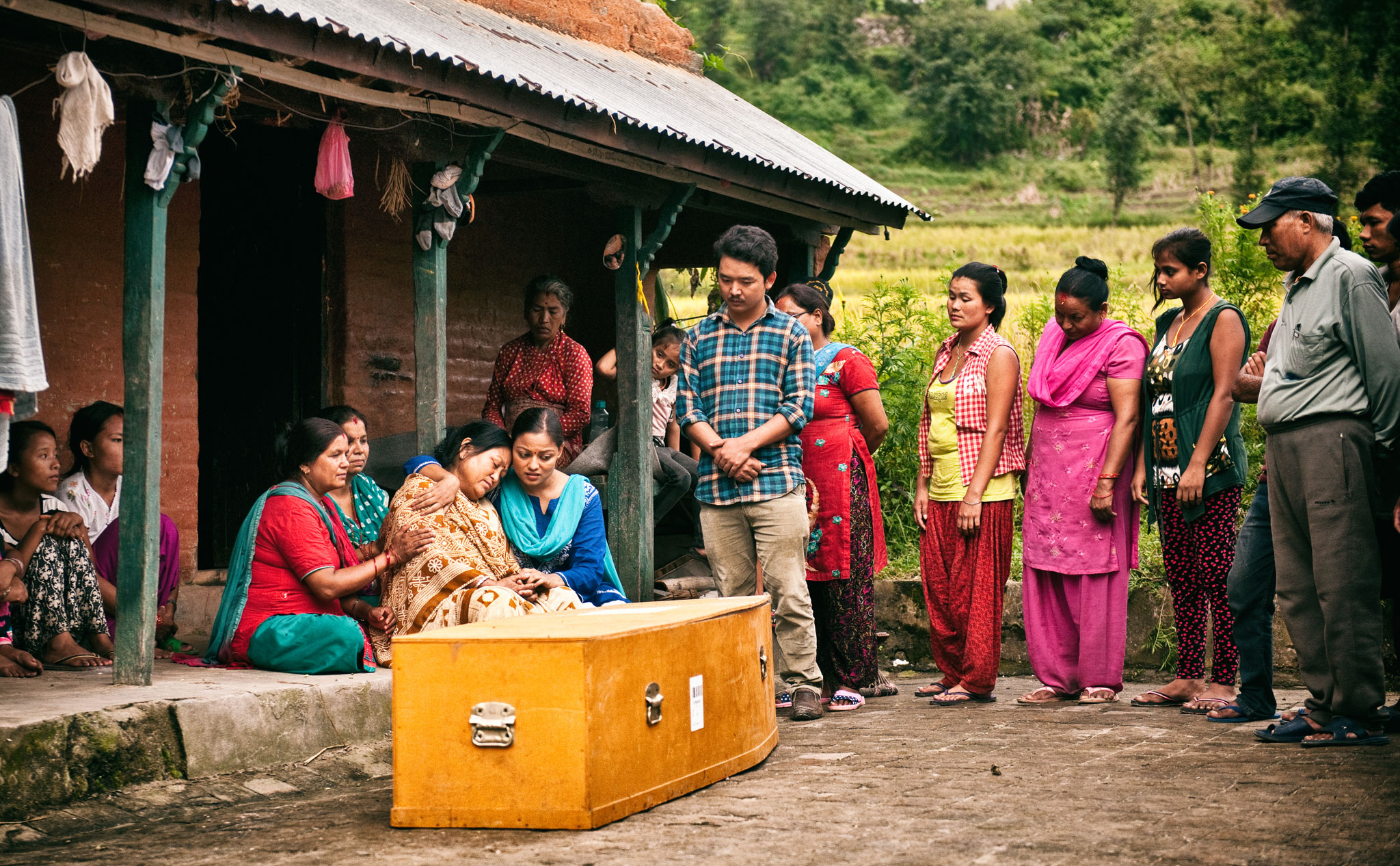 The most poignant scene in 'Nine Million Stars' dramatizes the mortal danger of migrant work, drawing attention to the negative effects it has on Nepali society. | Image courtesy of Jan Kath.