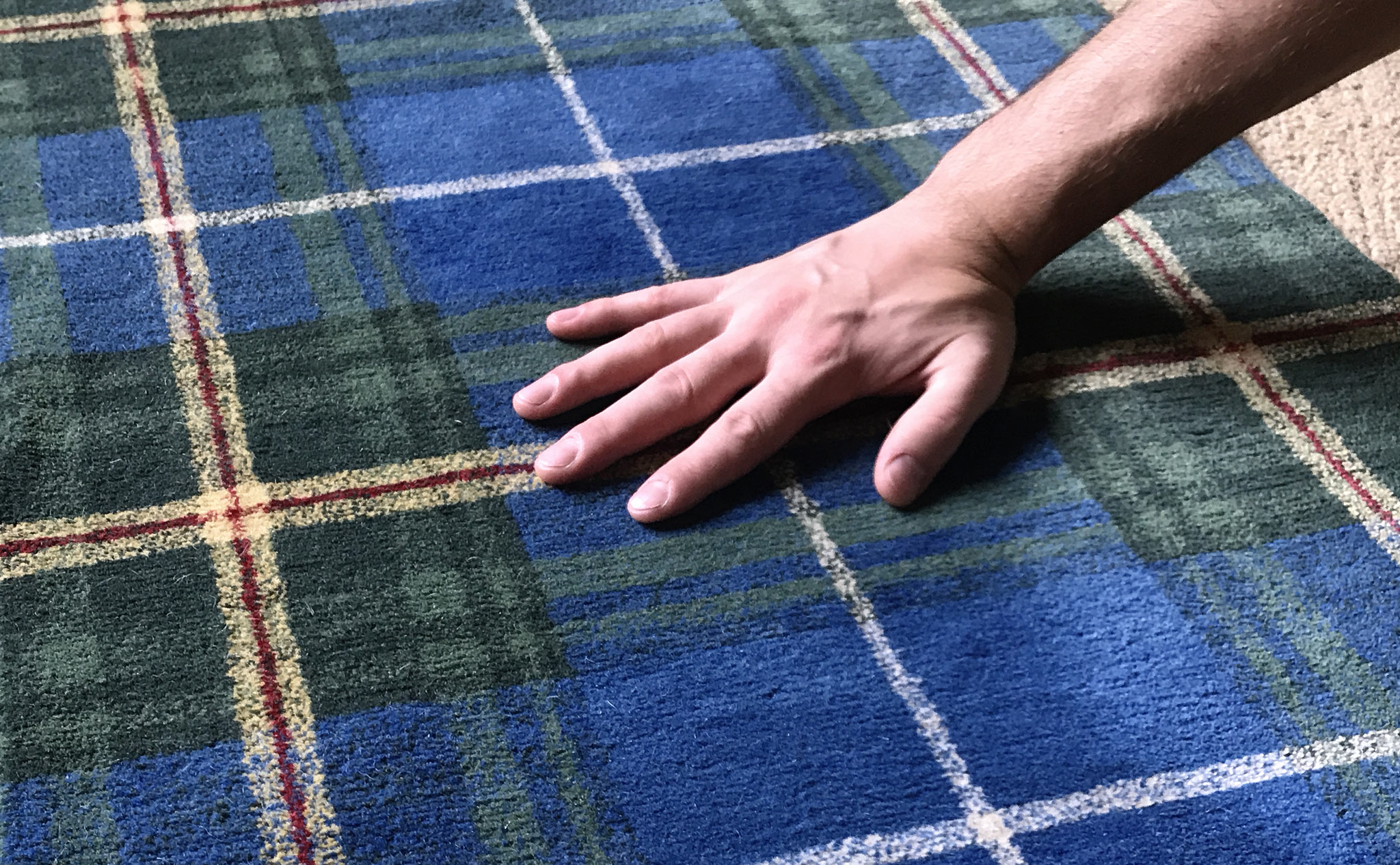 The fastidious notion of 'hand' as the sensation felt while sweeping across the face of the carpet. | Image by The Ruggist.
