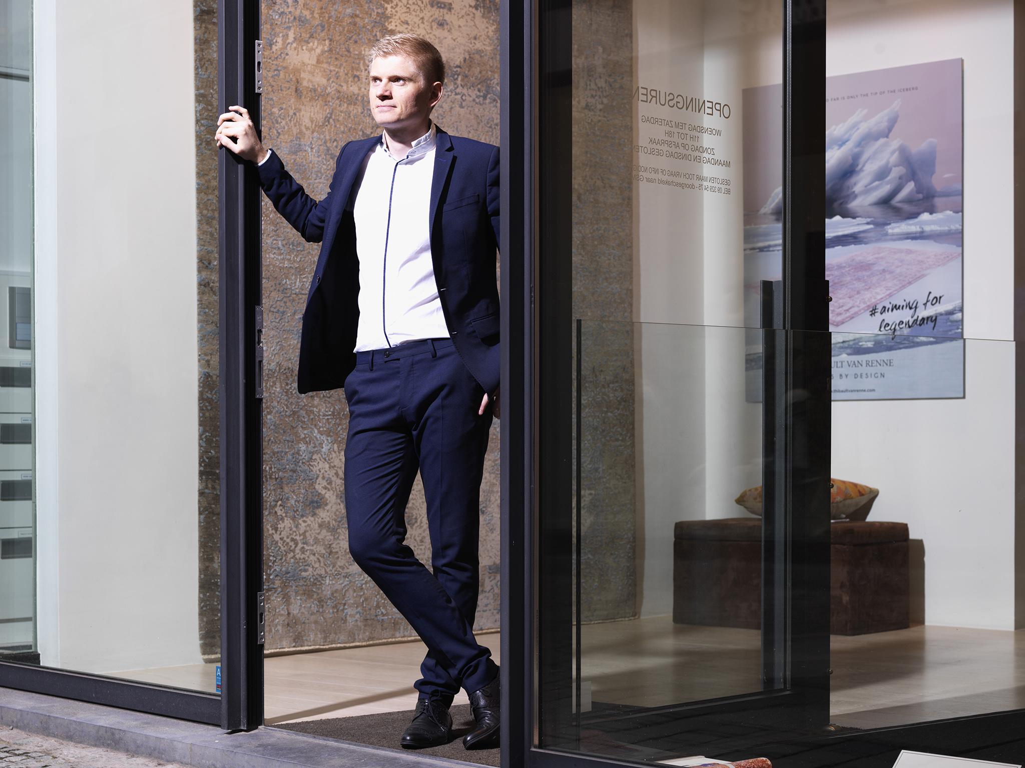 Thibault Van Renne shown at his recently expanded (flagship) showroom in Gent, Belgium. | Image courtesy of Thibault Van Renne.