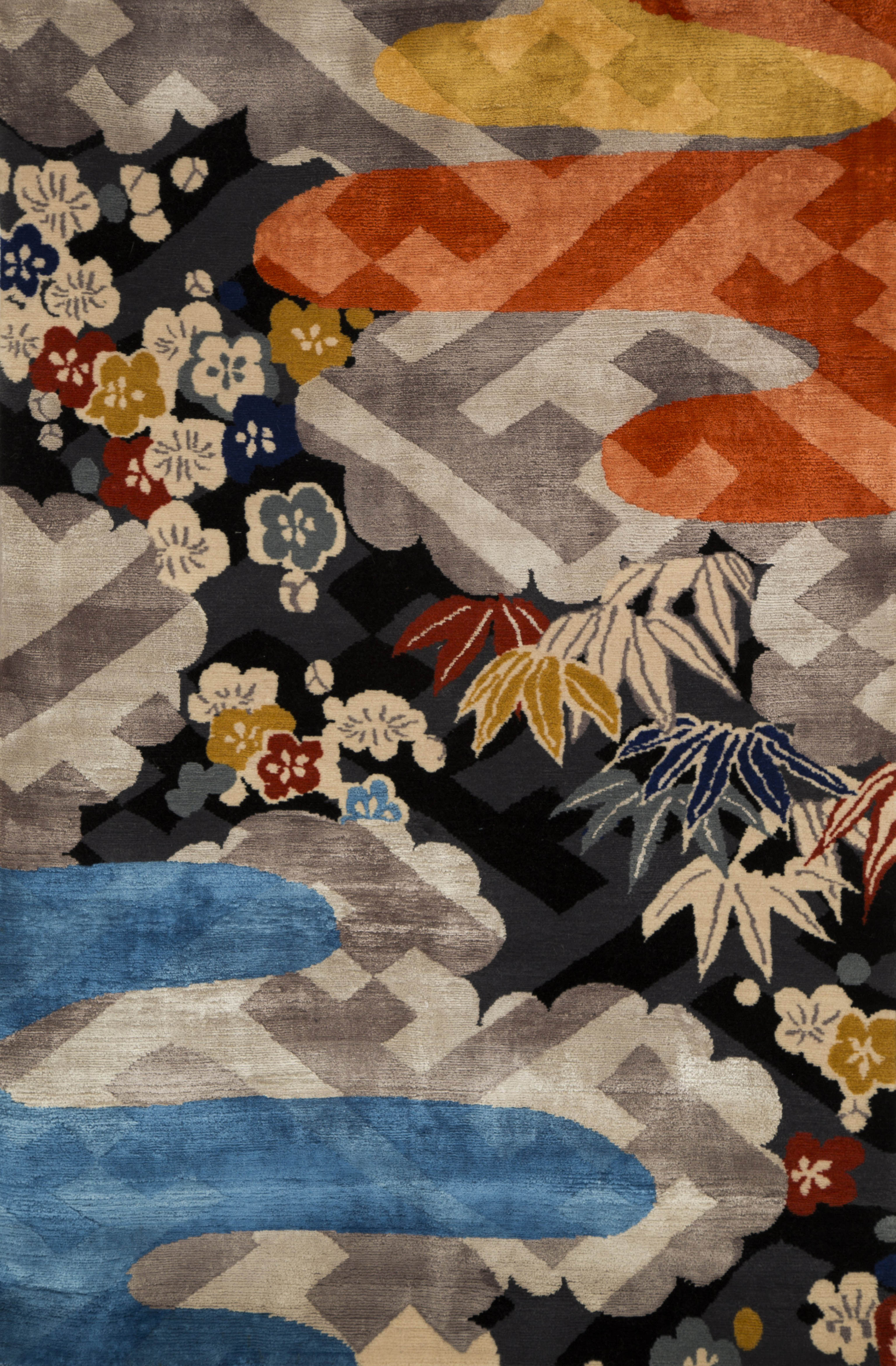 'Cirrus V' by UK Heritage Rugs was inspired by a Japanese Kimono. | Image courtesy of UK Heritage Rugs.