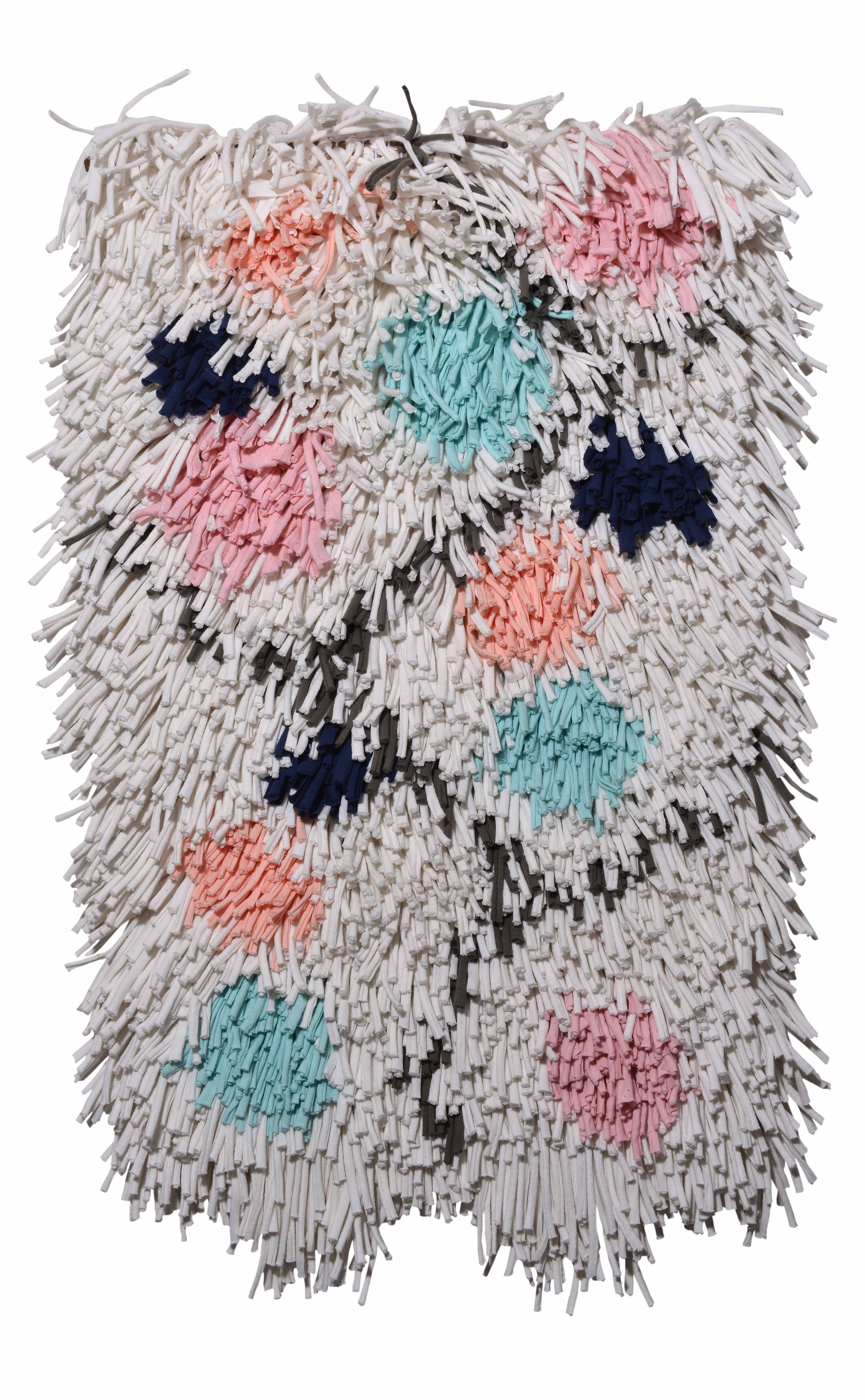 'Wish Balls' throw rug by Ragmate is made using the same repurposed fabric texture as the original Ragamuf chair cover. | Image courtesy of Ragmate.