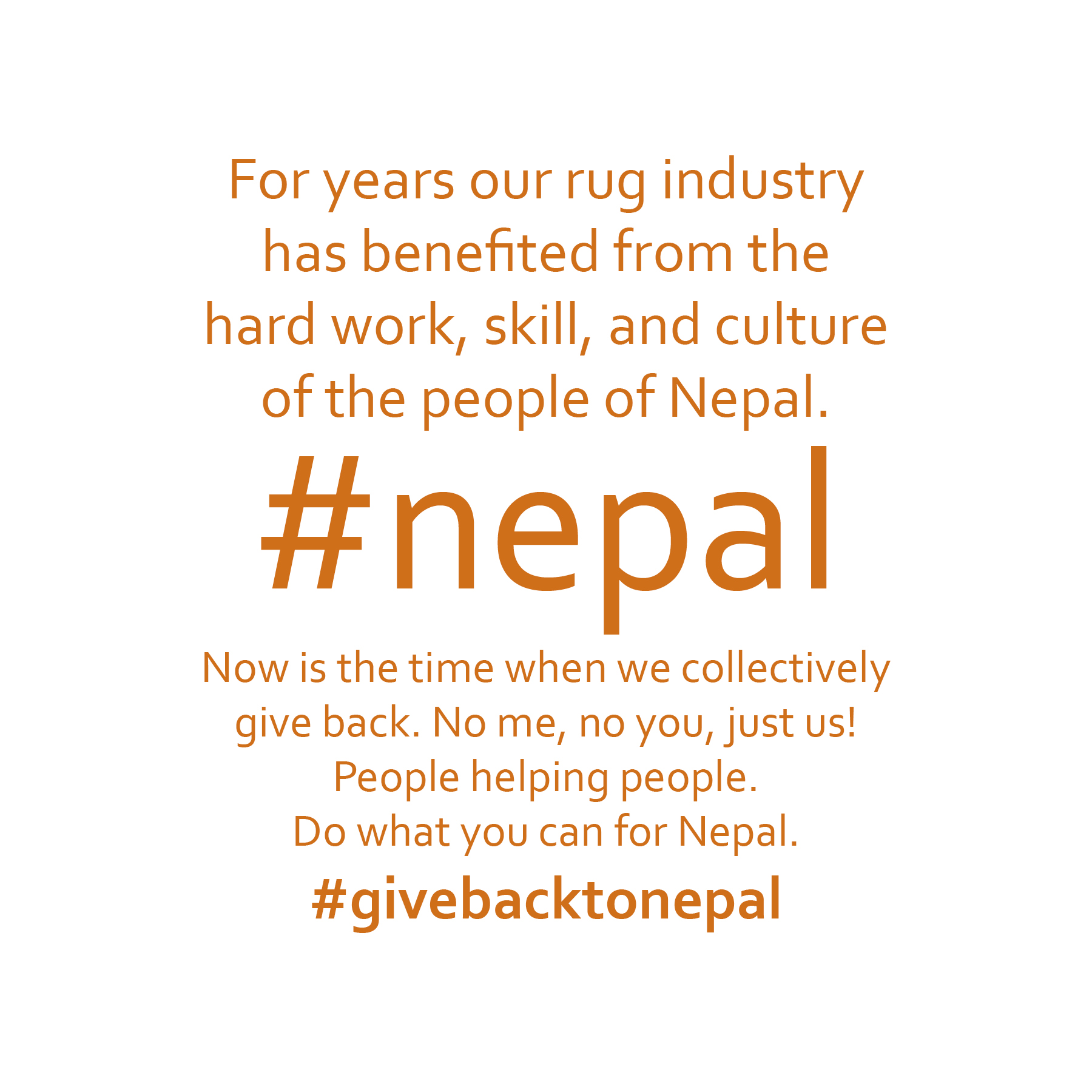Give Back to Nepal - #givebacktonepal - The Ruggist