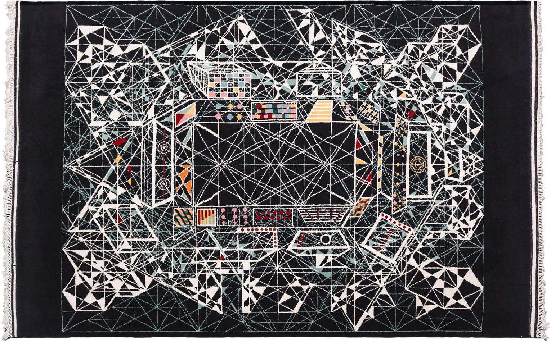 "'Air Abraham' carpet by Viron Erol Vert sized 2.70m x 3.40m (8'10"" x 11'2""), circa 2012. | Image courtesy of Viron Erol Vert."