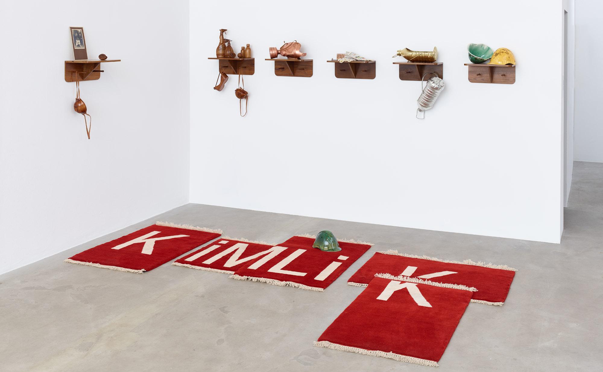 'Kimlik' or 'Identity' by Viron Erol Vert, circa 2016. Composition of five woollen rugs. | Image courtesy of Viron Erol Vert.