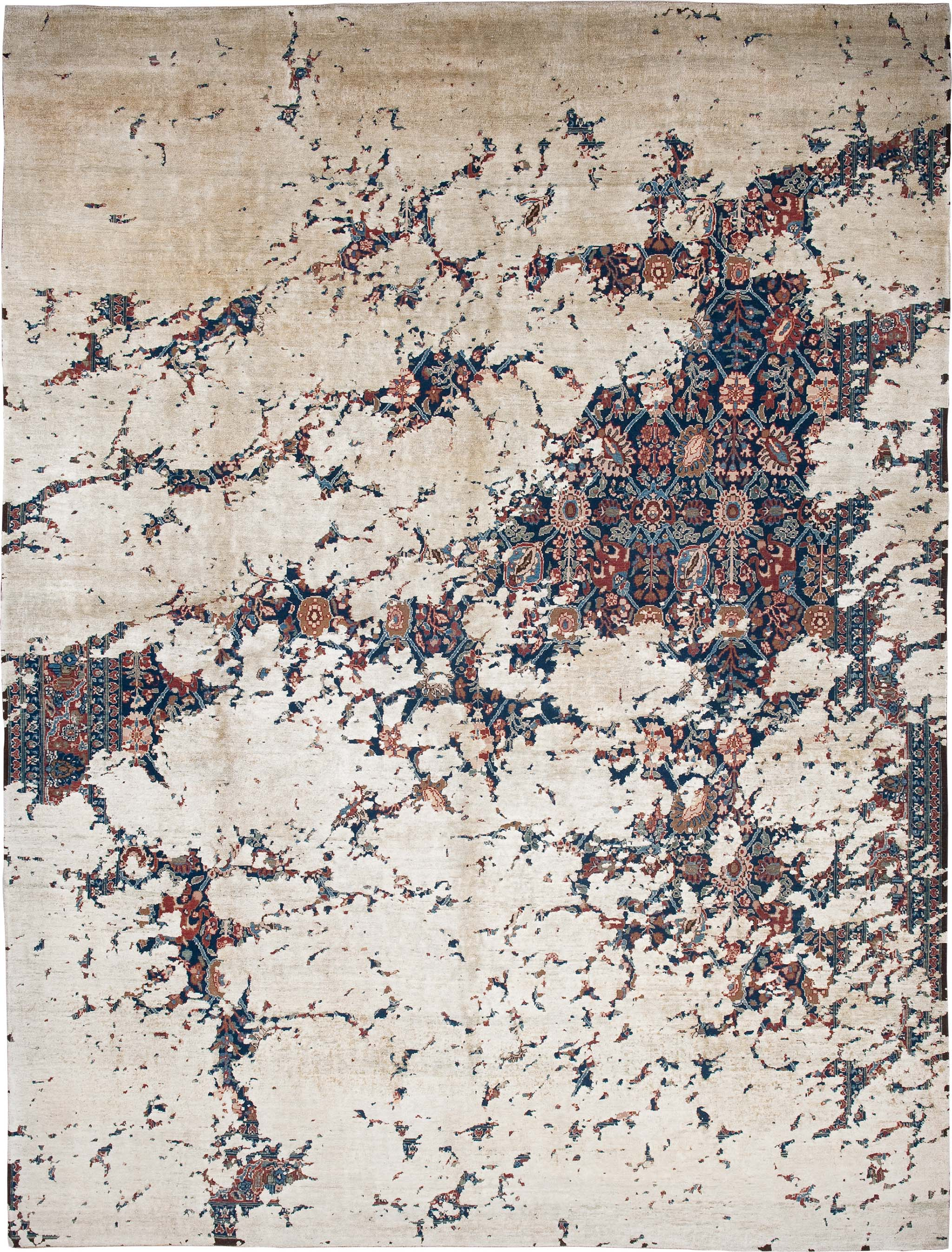 'Tabriz Aerial' from Jan Kath's 'Erased Heritage' collection of carpets.   Image courtesy of Jan Kath.