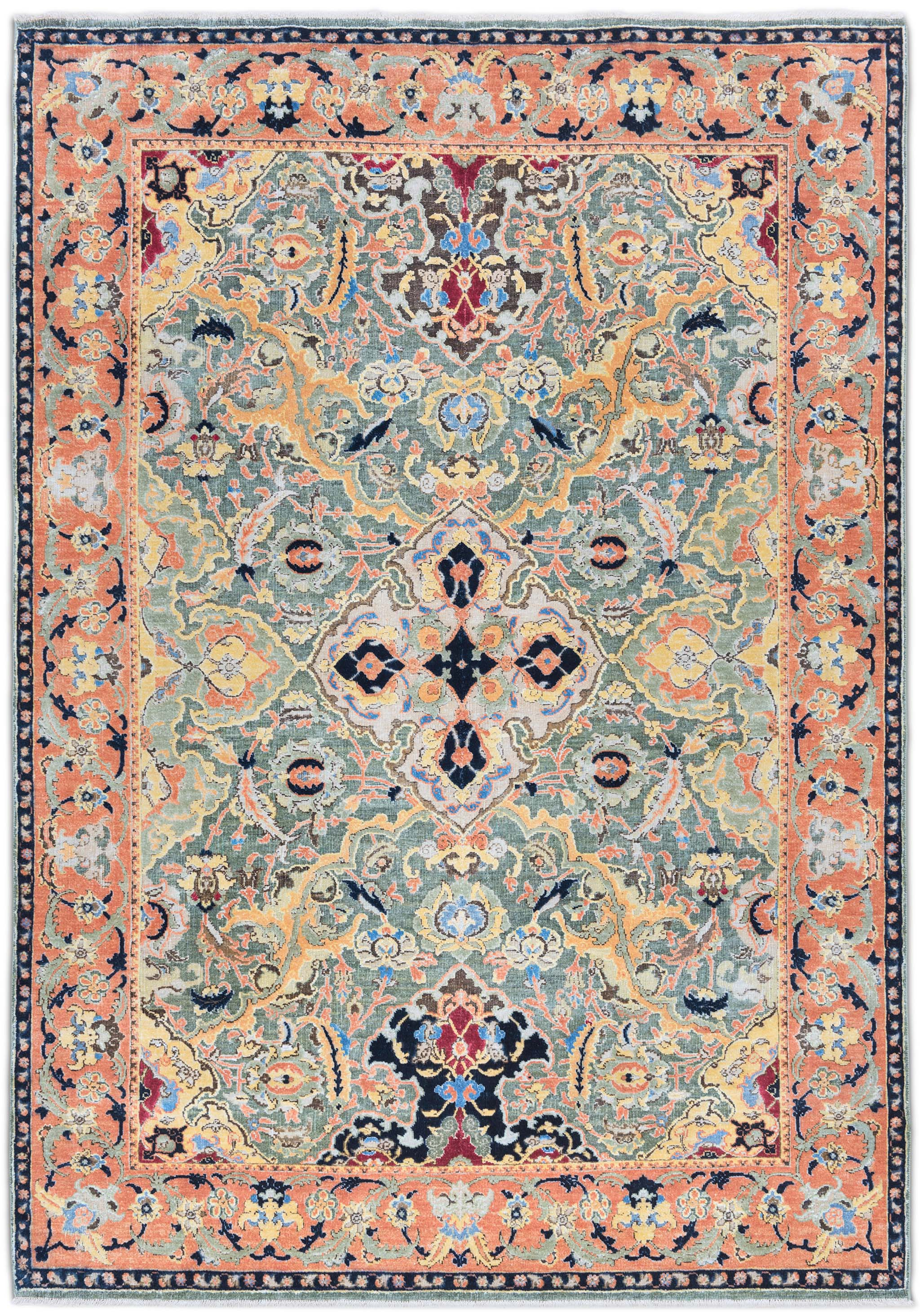 'Polonaise No. 3' by Knots Rugs from the firm's 17th Century Classic Collection, introduced in 2016. | Image courtesy of Knots Rugs.