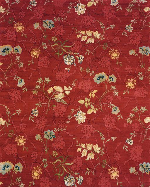 'Jardan' in colour 'Crimson' by Lapchi, circa 2004. Tibetan wool and silk. | Image courtesy of Lapchi.