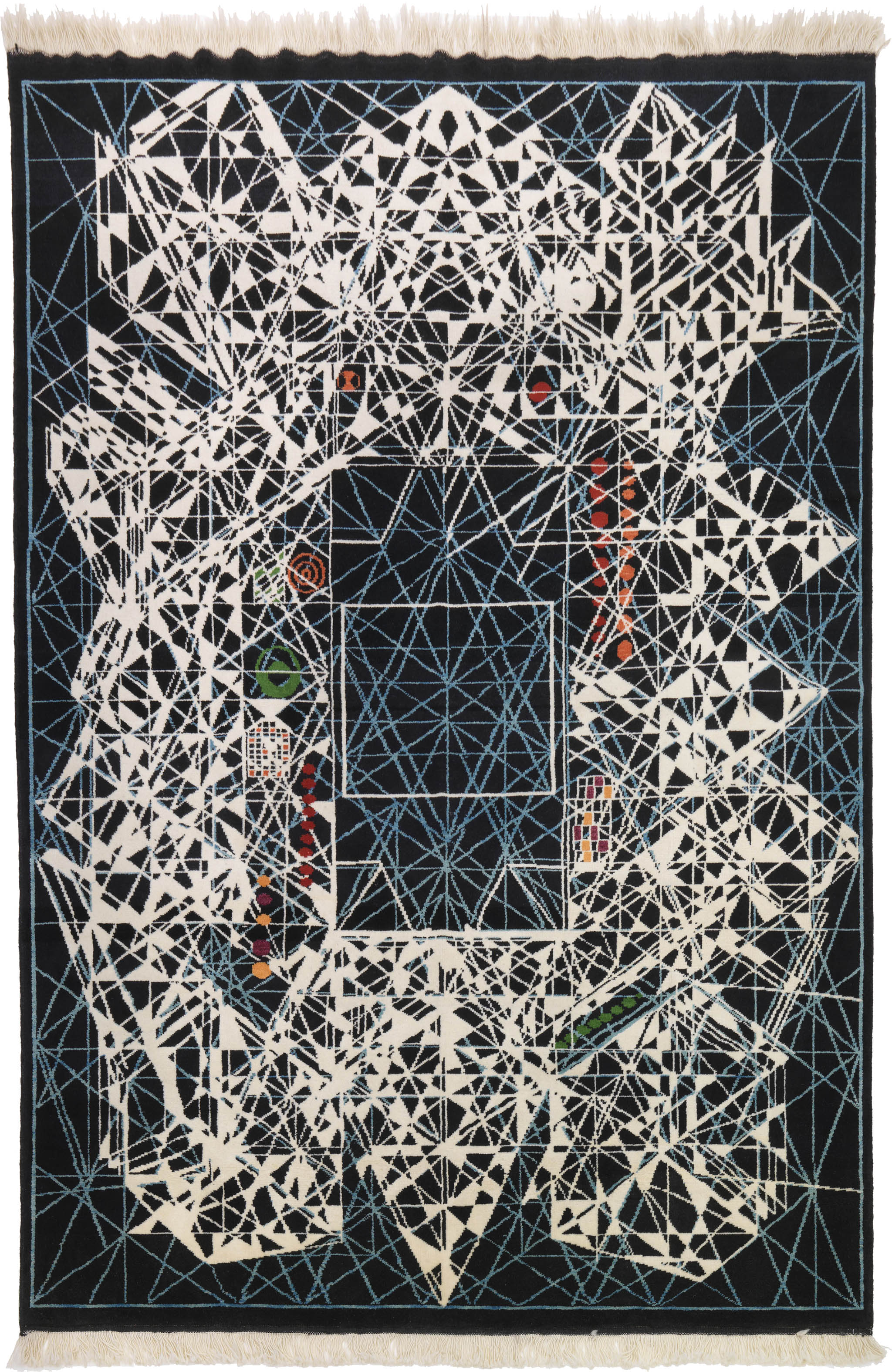 "'Mars' carpet by Viron Erol Vert sized 2.00m x 3.00m (6'7"" x 9'10""), circa 2012. | Image courtesy of Viron Erol Vert."