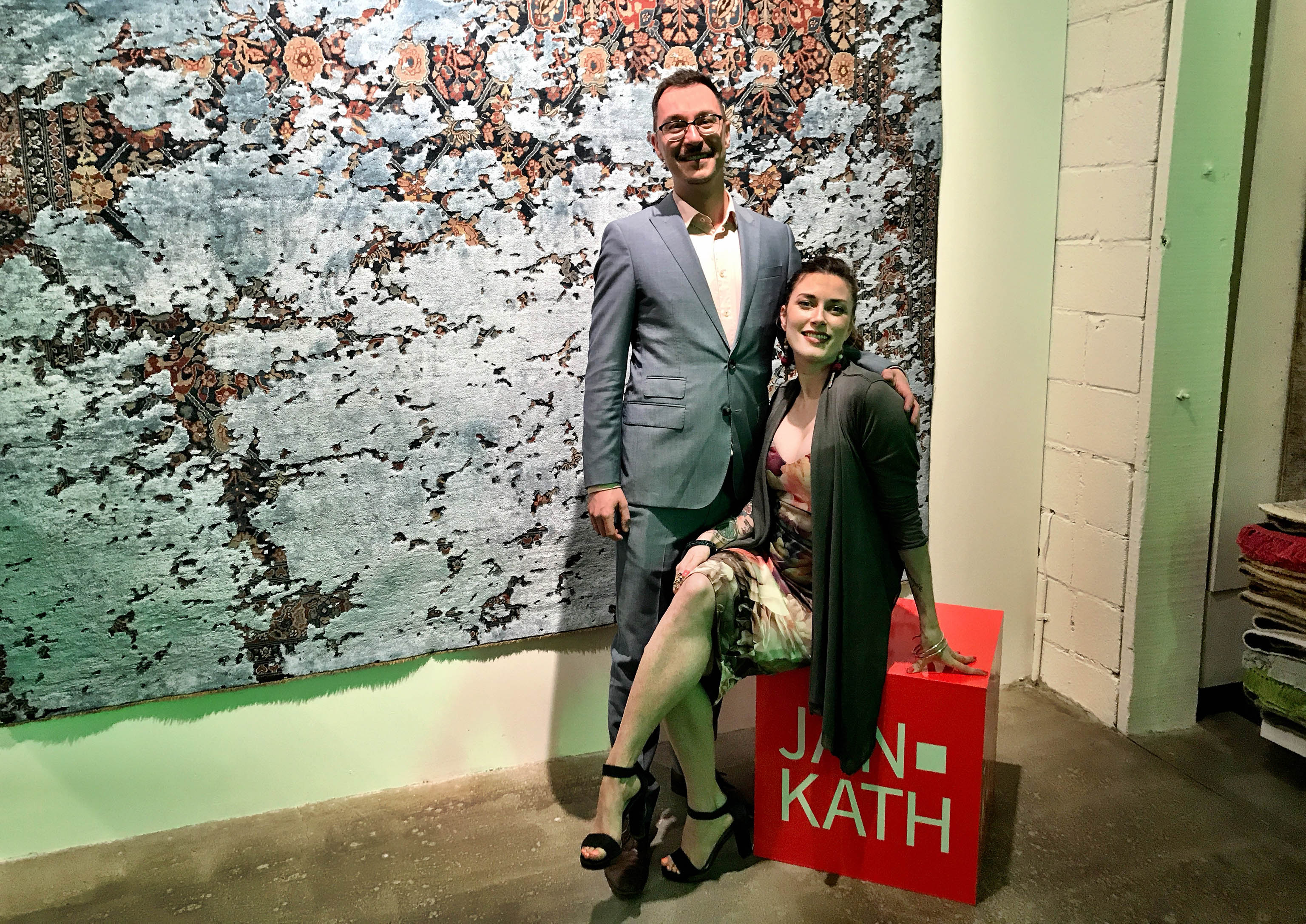 Yvan Semenowycz and Robyn Waffle are a dynamic and intoxicating couple who run Finlay and Kath's new Jan Kath Toronto showroom.   Image by The Ruggist.