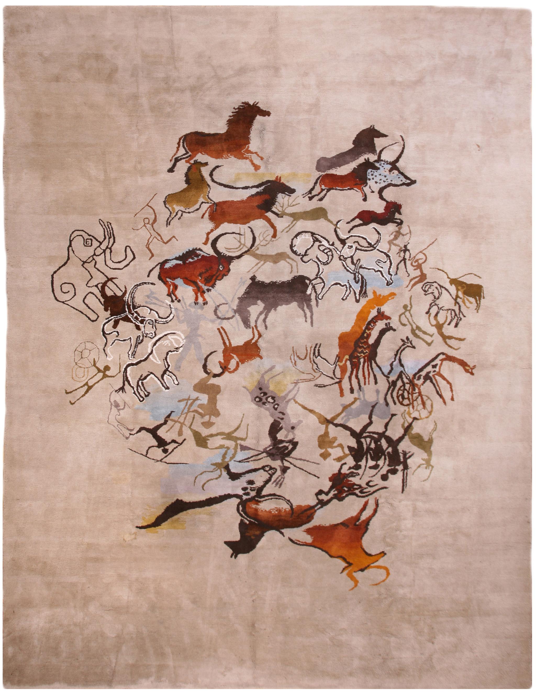 'Caverna' by Olga Fisch. Ecuadorian carpet, circa 1950. | Image courtesy of Rahmanan Antique and Decorative Rugs.