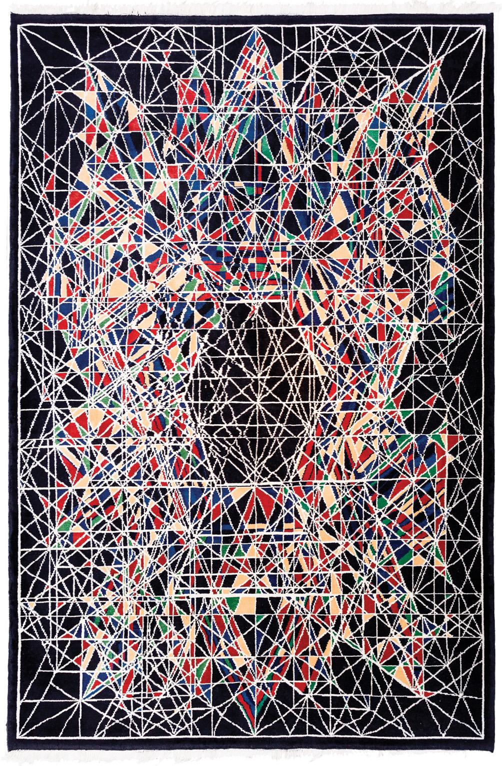 "'The Moon' carpet by Viron Erol Vert sized 2.21m x 3.25m (7'3"" x 10'8""), circa 2012. | Image courtesy of Viron Erol Vert."