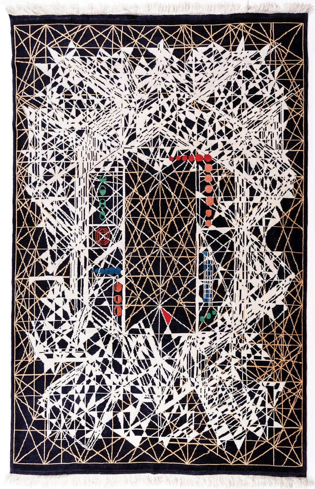 "'Venus' carpet by Viron Erol Vert sized 2.00m x 3.00m (6'7"" x 9'10""), circa 2012. | Image courtesy of Viron Erol Vert."